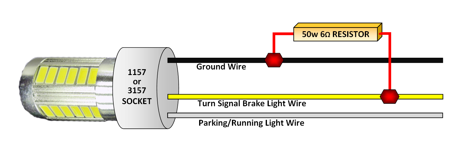 motorcycle led turn signal wiring diagram wiring diagram and hernes led tail light and turn signal conversion 2 3 wire mod